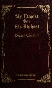 Cover of: My utmost for His Highest