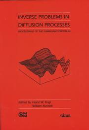 Cover of: Inverse problems in diffusion processes