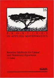 Cover of: Iterative Methods for Linear and Nonlinear Equations (Frontiers in Applied Mathematics)
