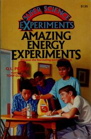 Cover of: Amazing Energy Experiments (Science)