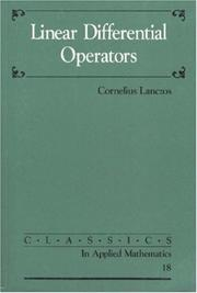 Cover of: Linear differential operators