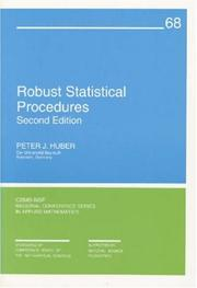 Cover of: Robust Statistical Procedures (CBMS-NSF Regional Conference Series in Applied Mathematics)