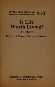 Cover of: Is life worth living?