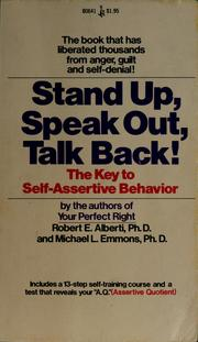 Cover of: Stand up, speak out, talk back!