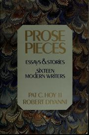 Cover of: Prose pieces