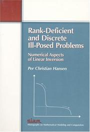 Rank-deficient and discrete ill-posed problems by Per Christian Hansen