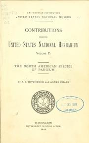 Cover of: Tropical North American species of Panicum