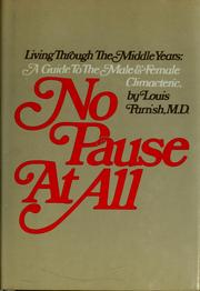 Cover of: No pause at all | Louis Parrish