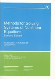 Cover of: Methods for Solving Systems of Nonlinear Equations (CBMS-NSF Regional Conference Series in Applied Mathematics)