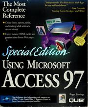 Cover of: Using Microsoft Access 97 | Roger Jennings