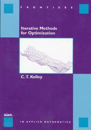 Cover of: Iterative Methods for Optimization (Frontiers in Applied Mathematics)