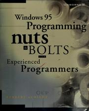 Cover of: Windows 95 programming: nuts and bolts - for experienced programmers