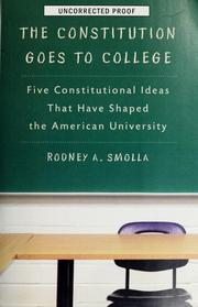 Cover of: The constitution goes to college