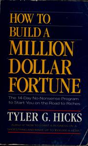 Cover of: How to build a million dollar fortune