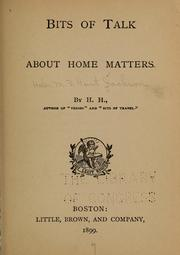 Cover of: Bits of talk about home matters