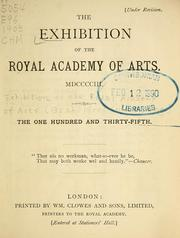 Cover of: The Exhibition of the Royal Academy of Arts MDCCCCIII | Exhibition of the Royal Academy of Arts (135th 1903 London, England)