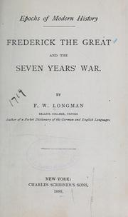 Cover of: Frederick the Great and the seven years' war