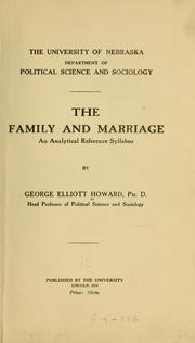 Cover of: ... The family and marriage