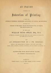Cover of: An inquiry concerning the invention of printing