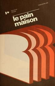 Cover of: Le pain maison