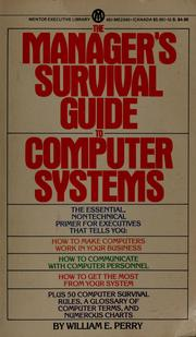 Cover of: Manager's Survival Guide | William E. Perry