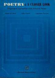 Cover of: Poetry: a closer look | James M. Reid