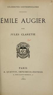 Cover of: ©mile Augier