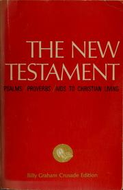 Cover of: New Testament; Psalms; Proverbs | Graham, Billy