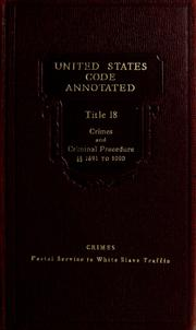 Cover of: Laws, etc. (U.S. code annotated: 1927)