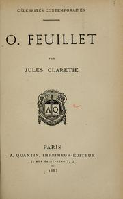 Cover of: O. Feuillet