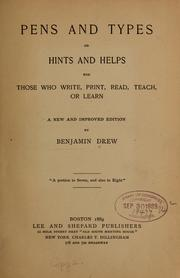 Cover of: Pens and types | Benjamin Drew