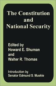 Cover of: The Constitution and National Security