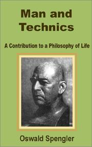 Cover of: Man and Technics | Oswald Spengler