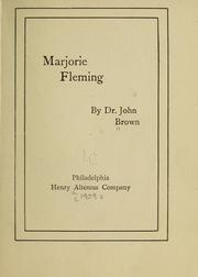 Cover of: Marjorie Fleming