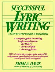 Cover of: Successful lyric writing | Sheila Davis