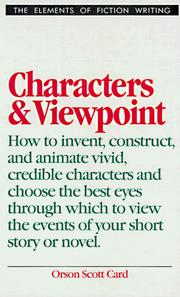 Cover of: Characters and viewpoint | Orson Scott Card
