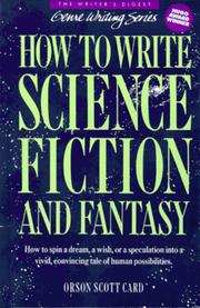 Cover of: How to Write Science Fiction & Fantasy