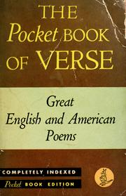 Cover of: The Pocket Book of Verse by edited with an introduction by M.E. Speare.