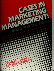 Cover of: Cases in marketing management | Charles L. Hinkle