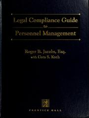 Cover of: The legal compliance guide to personnel management