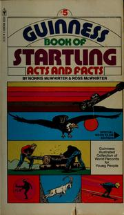 Cover of: Guinness book of startling acts and facts