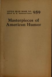 Cover of: Masterpieces of American humor |