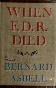 Cover of: When F.D.R. died