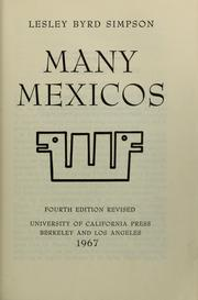 Cover of: Many Mexicos, Silver Anniversary Edition