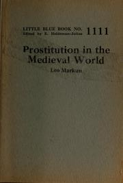 Cover of: Prostitution in the medieval world