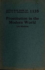 Cover of: Prostitution in the modern world