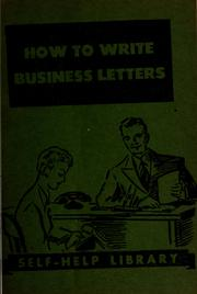 Cover of: How to write business letters