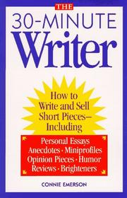 Cover of: The 30-Minute Writer