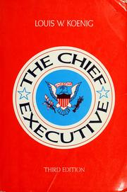 Cover of: The Chief Executive
