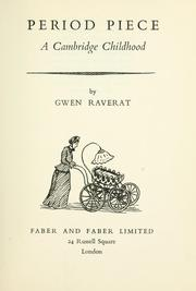 Cover of: Period piece | Gwen Raverat